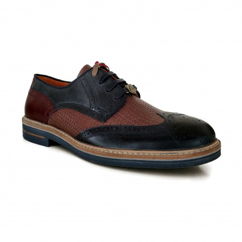 AMBITIOUS LADED LEATHER BICOLOR NAVY