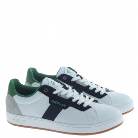 REPLAY SNEAKERS BIANCO VERDE