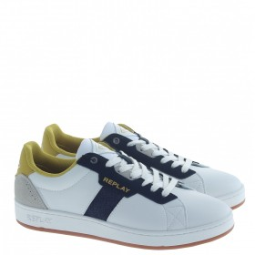REPLAY SNEAKERS BIANCO GIALLO