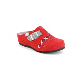 GRUNLAND CI2262 SLIPPER HIGH WEDGE RED