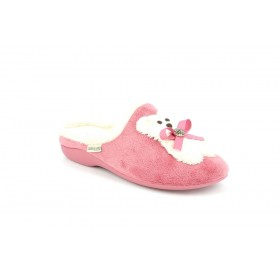 GRUNLAND CI1364 SLIPPER LOW WEDGE CREAM MAUVE