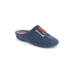 GRUNLAND CI1363 SLIPPER LOW WEDGE BLUE