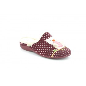 GRUNLAND CI1362 SLIPPER LOW WEDGE BORDEAUX