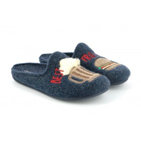 GRUNLAND CI1408 SLIPPER LOW WEDGE BLUE