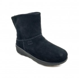 FIT FLOP MUKLUK SHORTY B96 ANKLE BOOT BLACK