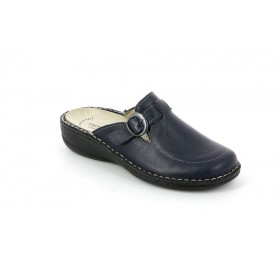 GRUNLAND CE0108 SLIPPER MEDIUM WEDGE BLUE
