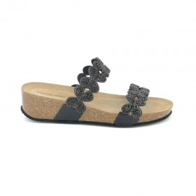 GRUNLAND CB1602 SLIPPER BLACK