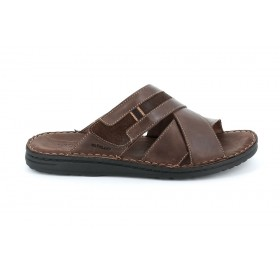 GRUNLAND CI1506 SLIPPER DARK BROWN