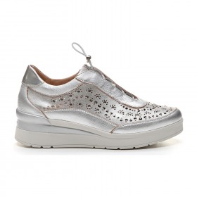 STONEFLY SNEAKERS COULISSE TRAFORATA ARGENTO