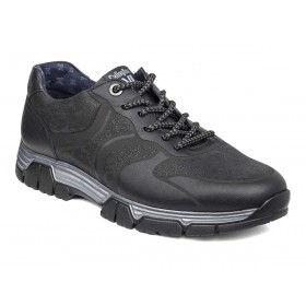 CALLAGHAN SNEAKERS NEVE PELLE LASERATA NERO