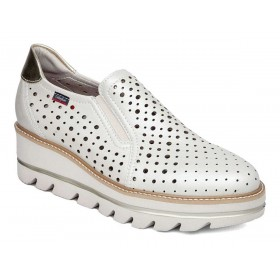 CALLAGHAN SLIP-ON MOCASSINI PELLE TRAFORATO PLATINO