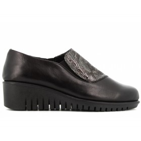 THE FLEXX MOCASSINO NERO GRIGIO